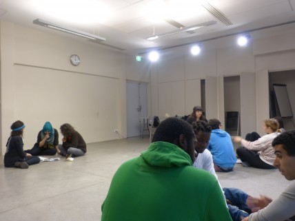 The workshops with migrants in Centquatre (january-febuary 2014)