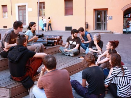 Workshops in Palazzo d'Accursio, photo: Jennifer Miller